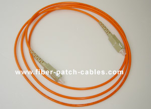 SC to SC multimode simplex fiber optic patch cable