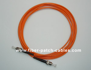 ST to ST multimode simplex fiber optic patch cable