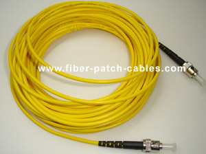 ST to ST single mode simplex fiber optic patch cable